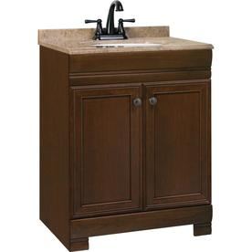 Style Selections 24-1/2-in Java Windell Single Sink Bathroom Vanity with Top
