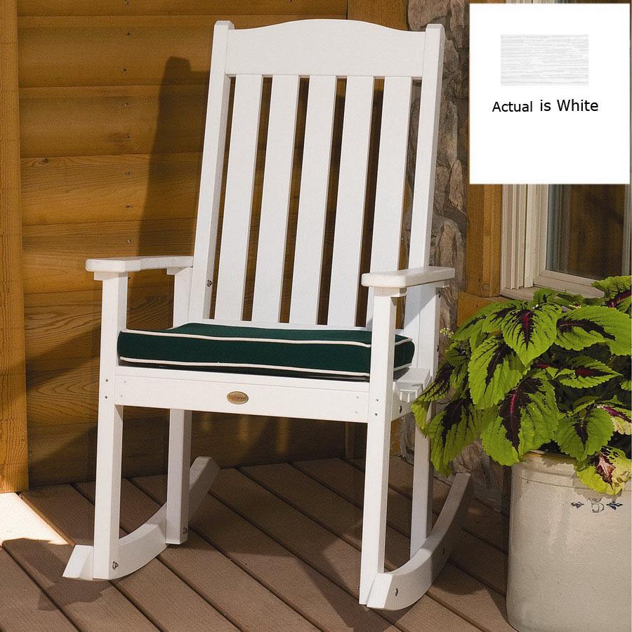 Shop Highwood USA White Wood Slat Seat Outdoor Rocking - Lowe's Rocking Chairs