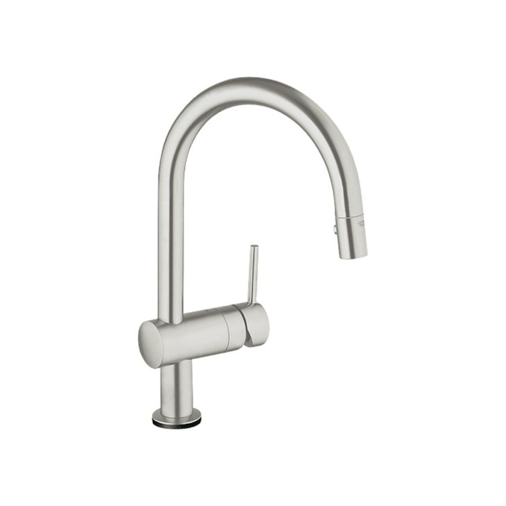 Grohe Minta Touch Supersteel Pull Down Kitchen Faucet