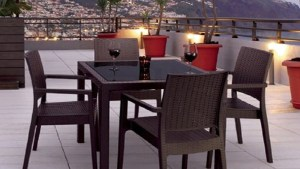 Shop Compamia 5 Piece Resin Patio Dining Set At Lowescom