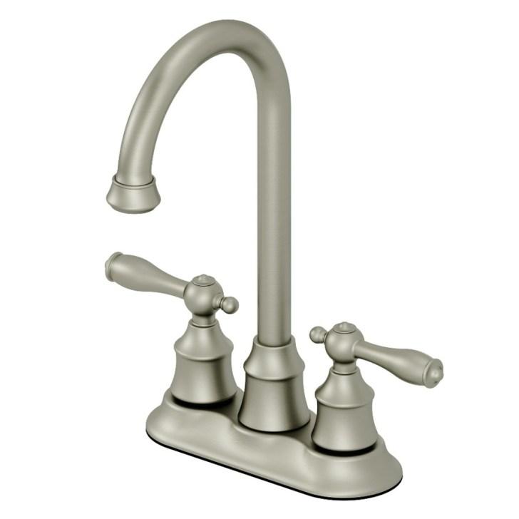 Shop Aquasource Brushed Nickel Handle Bar Faucet