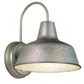 Portfolio Ellicott 13-1/8-in H Galvanized Dark Sky Outdoor Wall Light