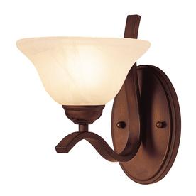 Portfolio 1-Light Bronze Traditional Arm Sconce