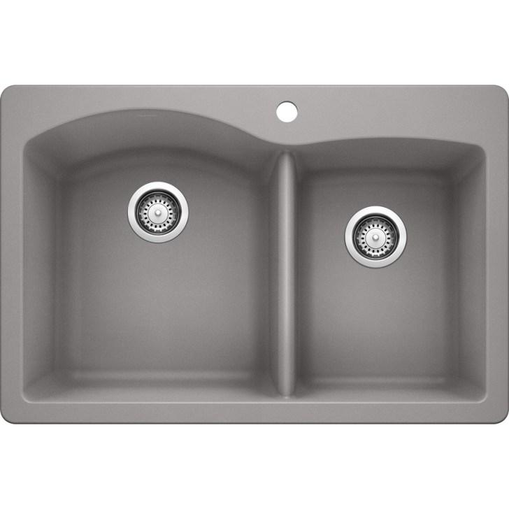 Double Basin Drop Undermount Granite Kitchen Sink