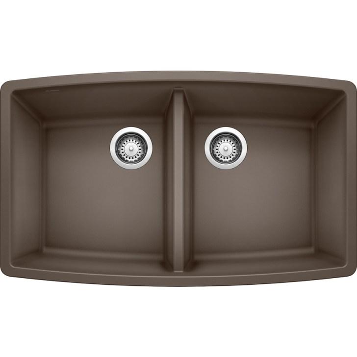 Cafe Brown Double Basin Granite Undermount Kitchen Sink