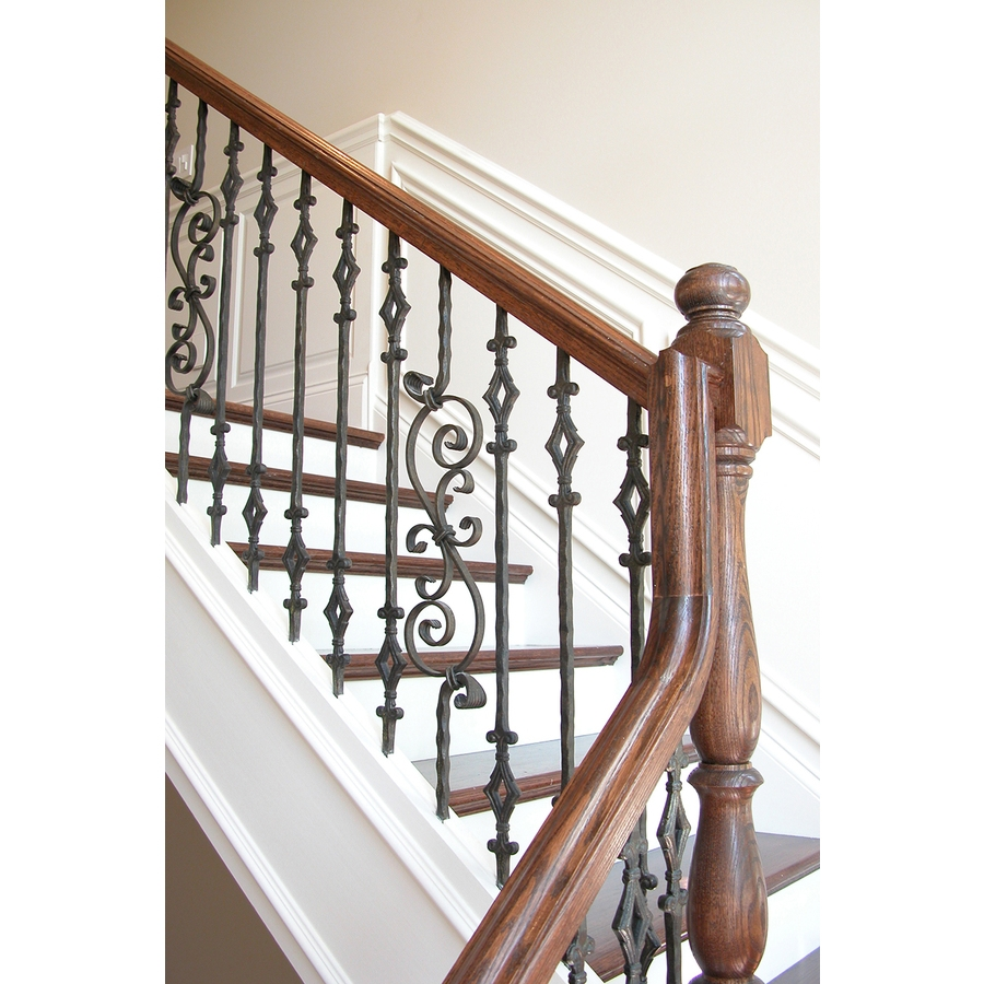House Of Forgings Tuscan Hammered 44 In Satin Black Wrought Iron | Wrought Iron Railings Lowes | Stair Balusters | Lowes Cost | Deck Railing | Baluster | Stairs