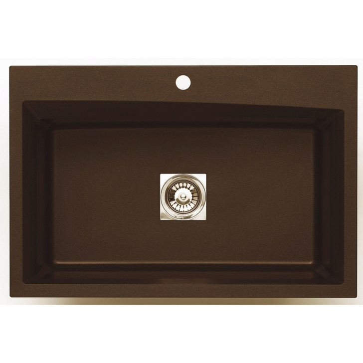 Single Basin Drop Undermount Granite Kitchen Sink