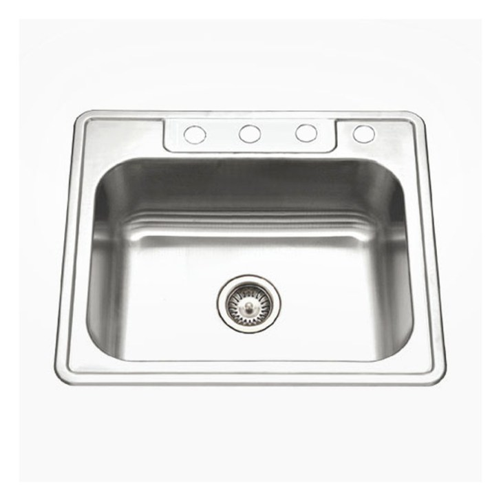 Ada Gauge Single Basin Drop Stainless Steel Kitchen Sink