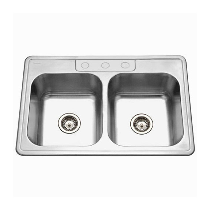 Ada Gauge Double Basin Drop Stainless Steel Kitchen Sink