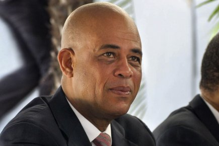 Michel Martelly a déclaré devant des journalistes à... (Photo: Swoan Parker, Reuters)