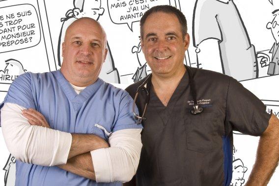 L'infirmier Yves Lessard et le docteur François Paquet, auteurs de Stat