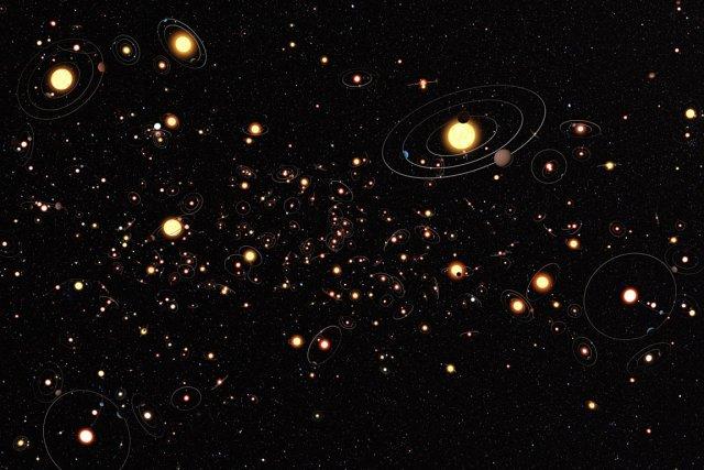 Cette représentation artistique diffusée par l'Observatoire austral européen... (Photo: AFP/ESO)