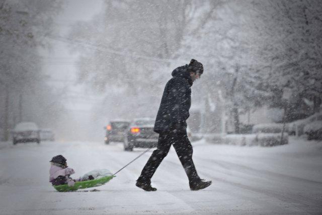 La neige devrait faire son apparition sur l'ensemble du territoire québécois à... (Photo Bernard Brault, La Presse)