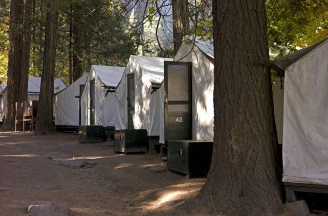 Voici les tentes dans lesquelles les visiteurs du... (Photo: Ben Margot, AP)