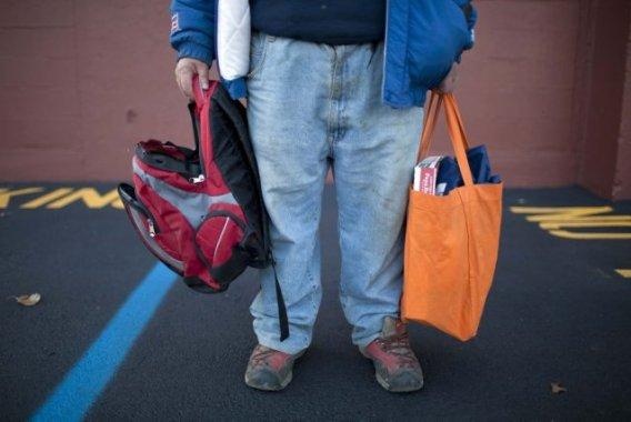 Le nombre de sans-abris et de personnes faisant appel aux soupes  populaires a... (AARON P. BERNSTEIN, REUTERS)