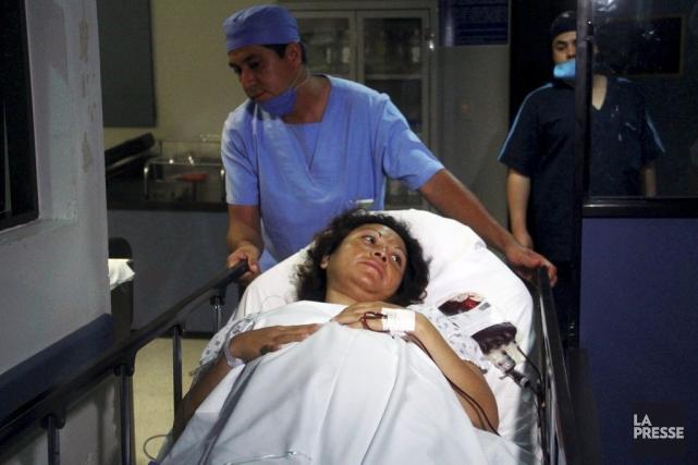 Salud Romero après la naissance de ses sextuplés,... (Photo ENRIQUE CASTRO, AFP)