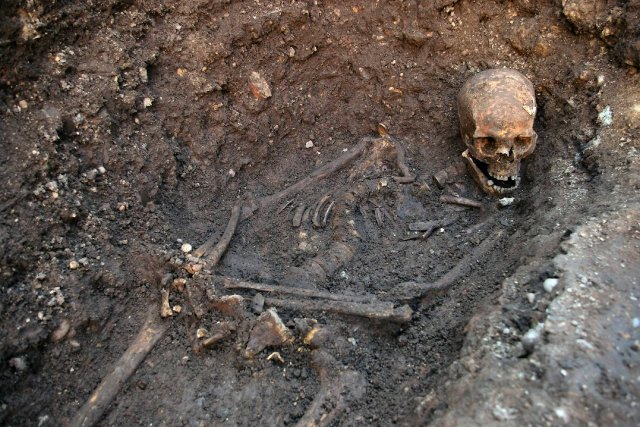 Le squelette de Richard III... (Photo Reuters)