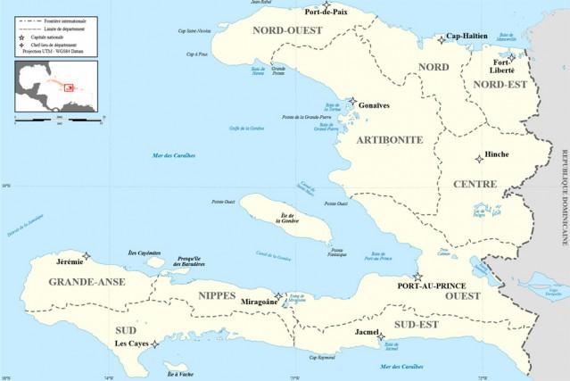 Plus de 8000 logements avaient été inondés au... (Haïti, carte)