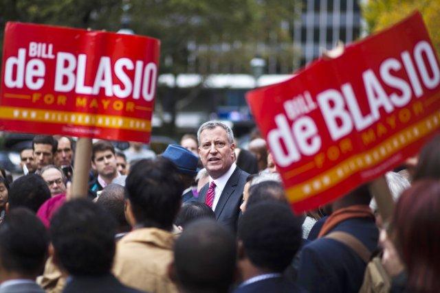 Le démocrate Bill de Blasio deviendra, sauf surprise,... (PHOTO EDUARDO MUNOZ, ARCHIVES REUTERS)