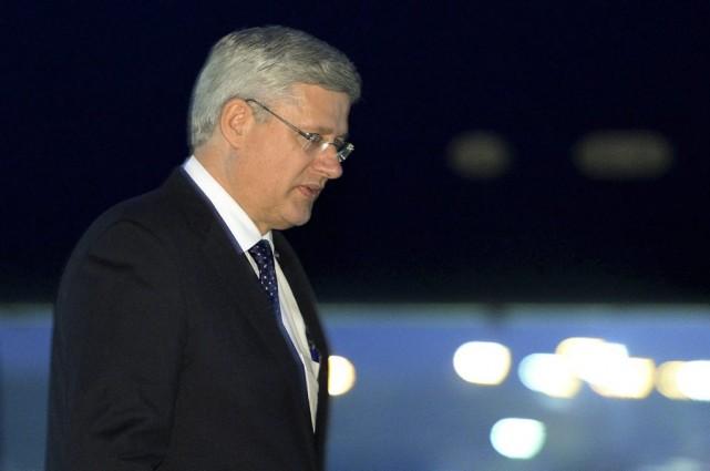 Le premier ministre du Canada Stephen Harper... (La Presse Canadienne)