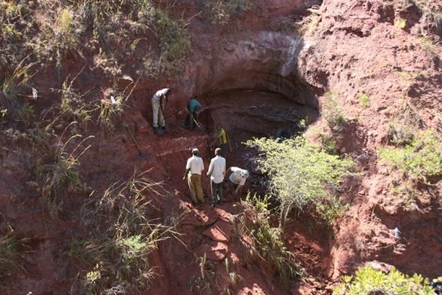 Des restes d'os exhumés en Tanzanie ont conduit à la découverte d'une nouvelle... (PHOTO PATRICK O'CONNOR, OHIO UNIVERSITY)