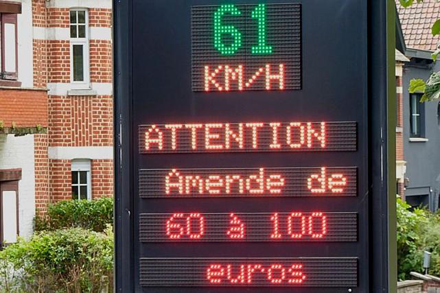 Les radars pédagogiques sont utilisés depuis quelques années... (WIKIMEDIA COMMONS, JAMAIN)
