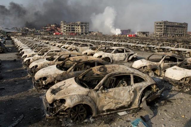 La catastrophe a fait au moins 114 morts,... (PHOTO NG HAN GUAN, ARCHIVES ASSOCIATED PRESS)