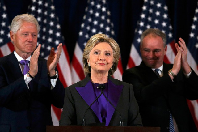 Hillary Clinton a donné son discours de concession... (Carlos Barria, REUTERS)