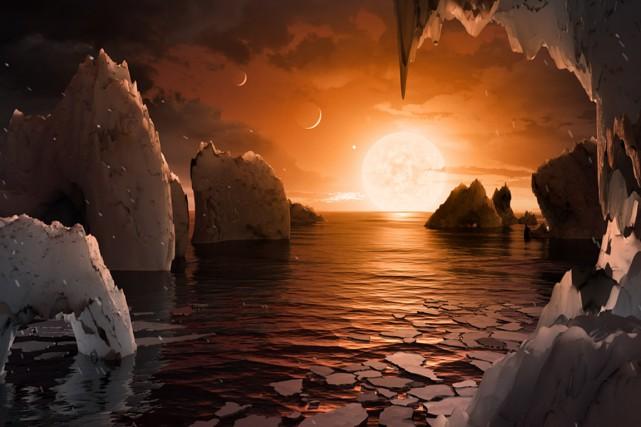 Cette illustration d'un artiste montre une possible surface... (NASA/JPL-Caltech)