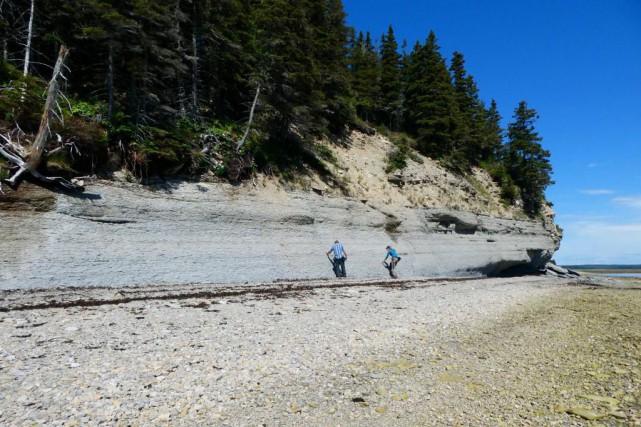La bande grise de roc nu correspond à... (Photo fournie par l'Université d'Ottawa)