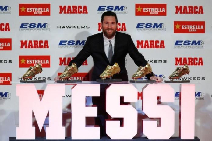 Barcelone: La réaction de Lionel Messi après avoir remporté son 5e Soulier d'Or