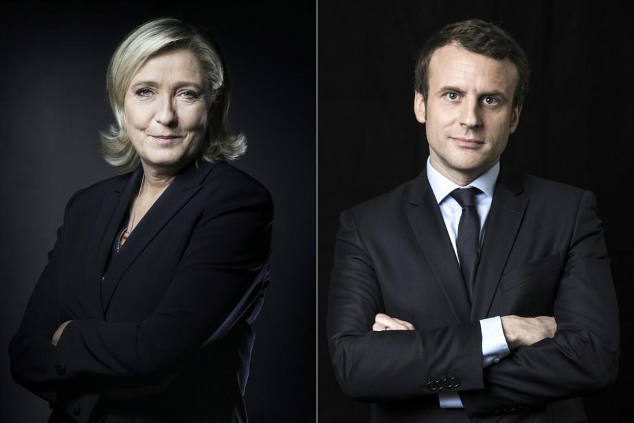 Présidentielle française: Emmanuel Macron et Marine Le Pen au deuxième tour