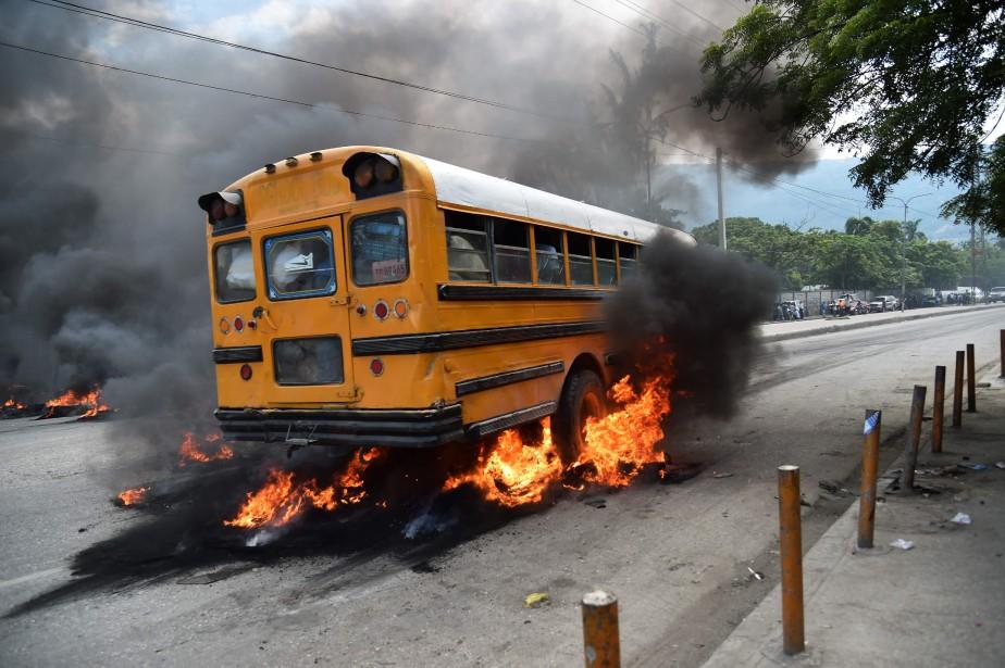 HAITI-POLITICS-ECONOMY-DEMO