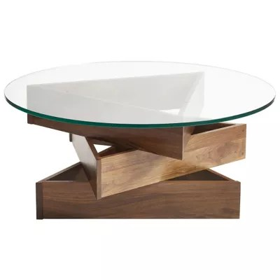 statements twist round glass top coffee table by copeland furniture