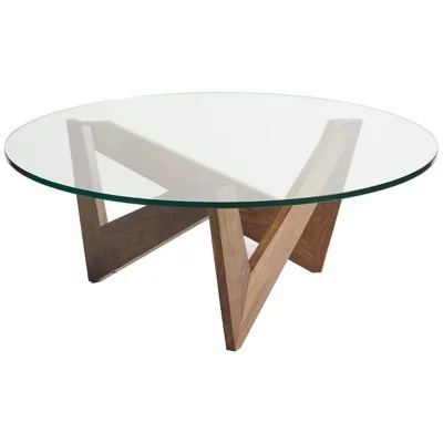 statements check round glass top coffee table by copeland furniture