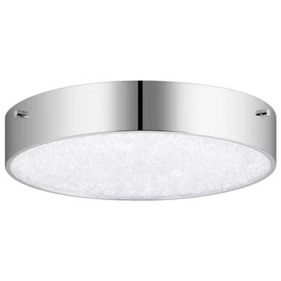crystal moon led round flushmount light