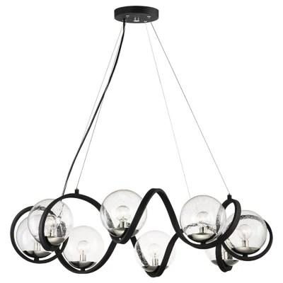 curlicue 8 light chandelier