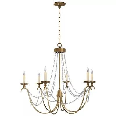marigot 6 light chandelier