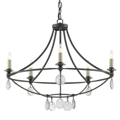 ultralights strata led square chandelier 18407 36 bk oa 04