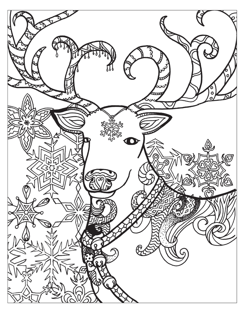 Zendoodle Coloring: Winter Wonderland | Jodi Best | Macmillan | winter coloring pages for adults