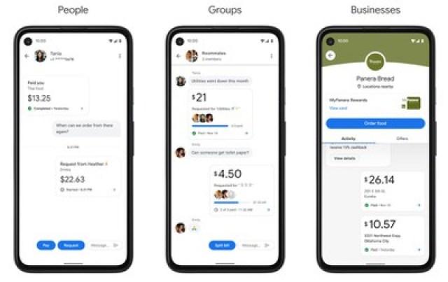 редизайн приложения Google Pay