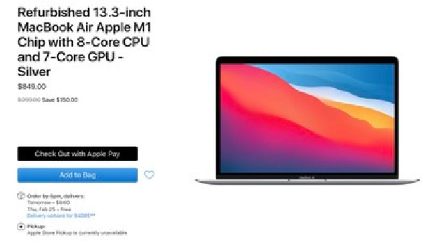 refurbished apple m1 macbook air