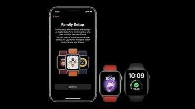 Family setup feature for watch7