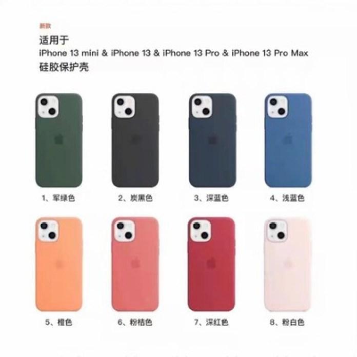 iphone 13 silicone case leak