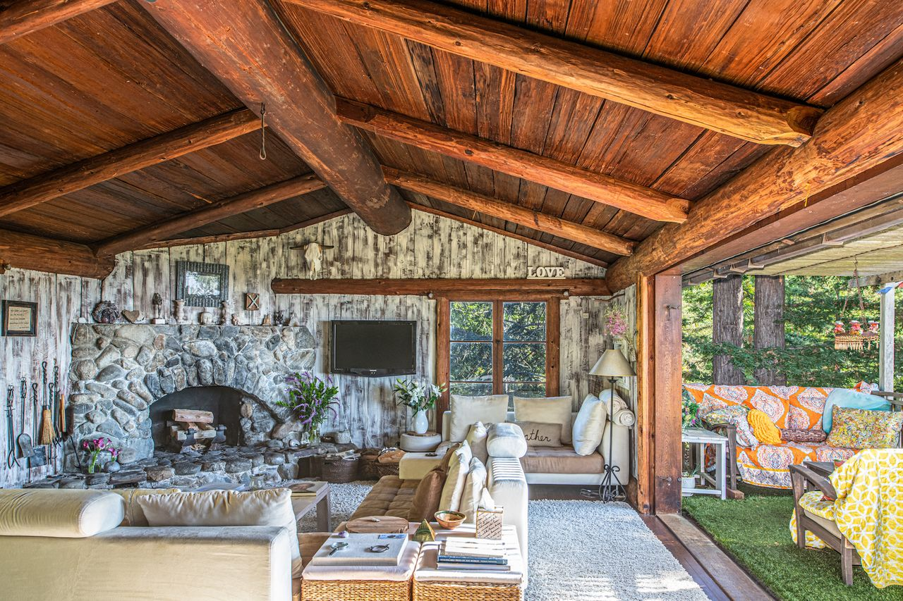 A Historic Rustic Log Cabin In Big Sur California Is