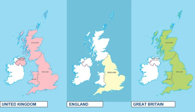 What's the difference between England, Great Britain and the UK.