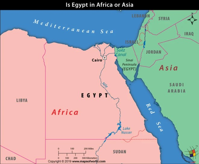 Is Egypt in Africa or Asia? | Maps of World Answers