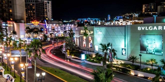 Night lights in Tamuning district