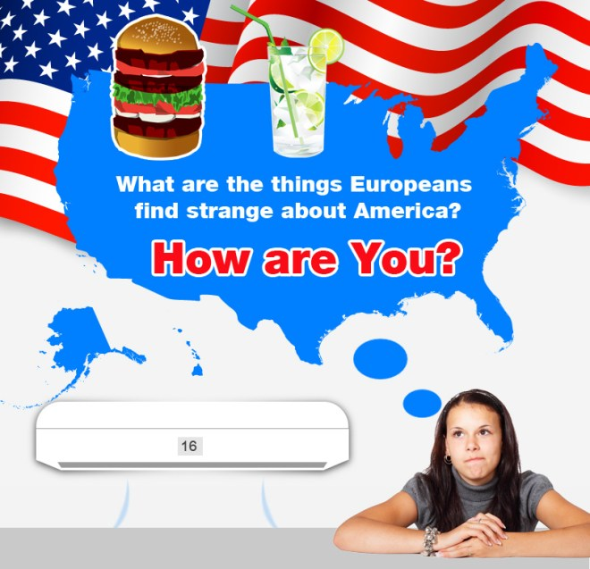 Infographic showing things Europeans find strange about America?