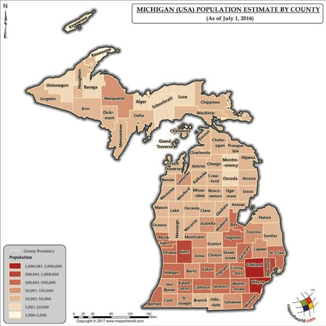 What Is The Population Of Michigan Answers
